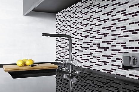 La parete della cucina antracite argento d moasik kacheln