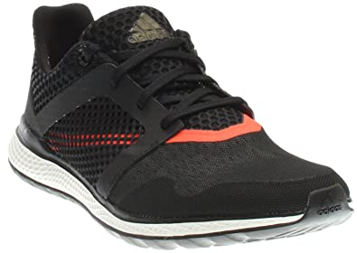 adidas Energy Bounce 2.0 Mens Running Shoe 7 Black-Dark Grey-Solar Red