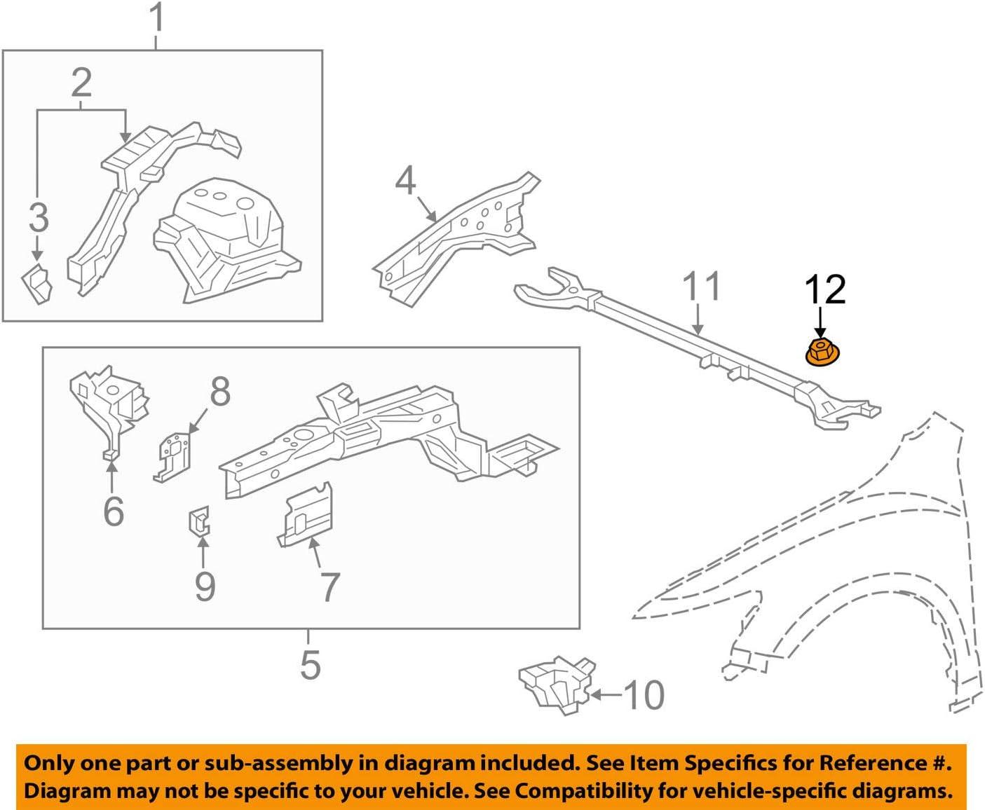 Honda 94071-08080 Nut-Washer 8MM