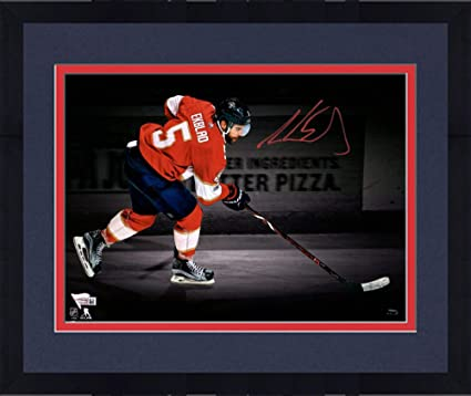 Framed Aaron Ekblad Florida Panthers Autographed 11 quot x 14 quot  Skating  Spotlight Photograph -   48c4e0be7