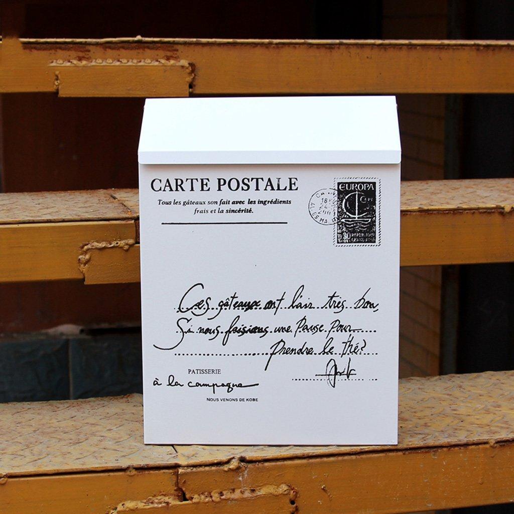 HLJ シンプルなヨーロッパの防水ポストボックスの提案箱防水クリエイティブレターボックス壁にマウントされた屋外のメールボックスのレポートボックス   B07FKXPFLJ