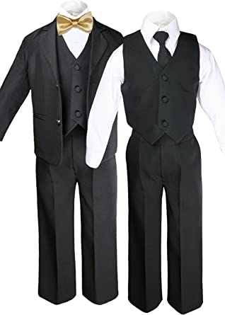 18-24 months XL: 6pc Boys Suit with Satin White Necktie from Baby to Teen