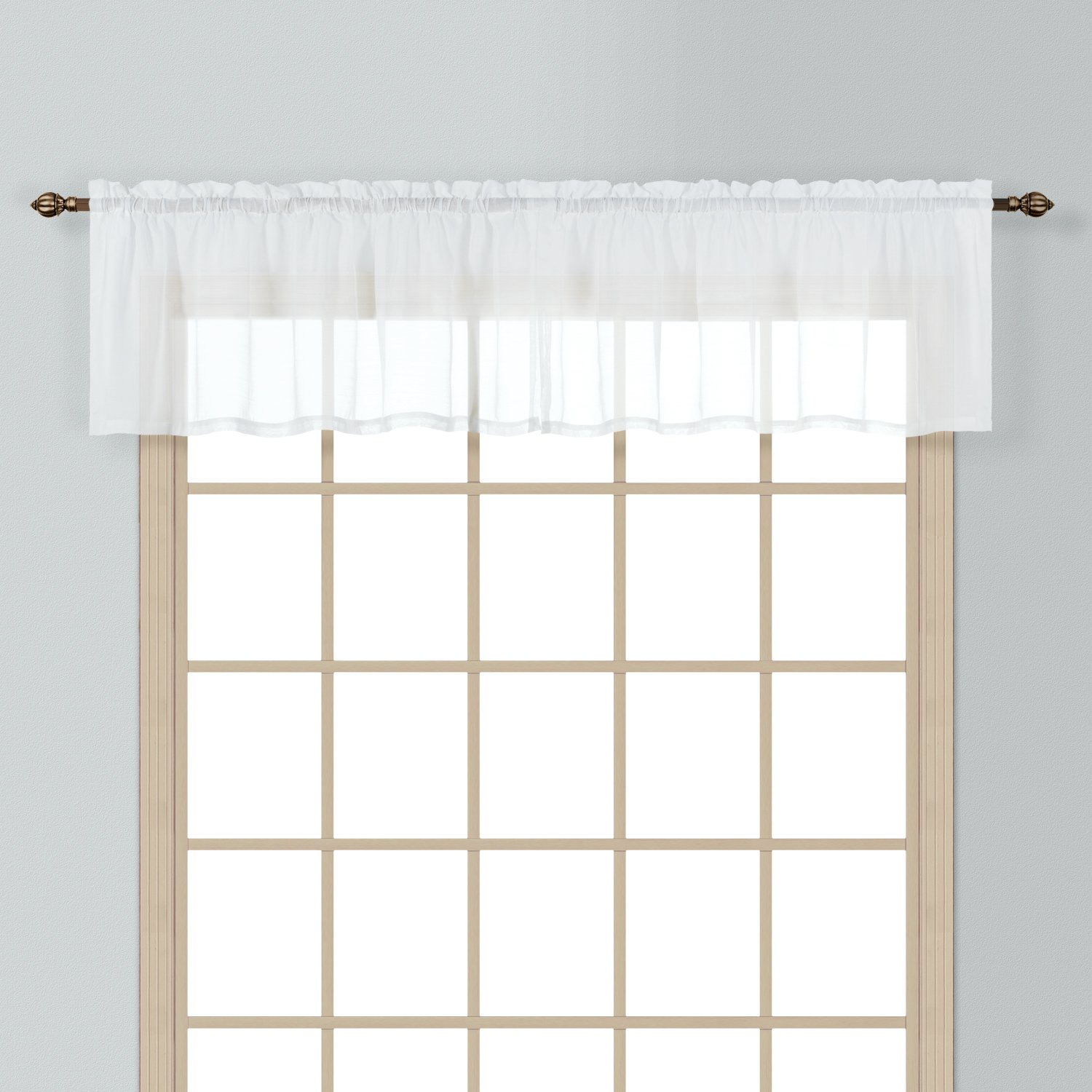 Amazon.com: American Curtain And Home Semi Sheer Window Treatment Valance,  54 Inch By 16 Inch, White: Home U0026 Kitchen