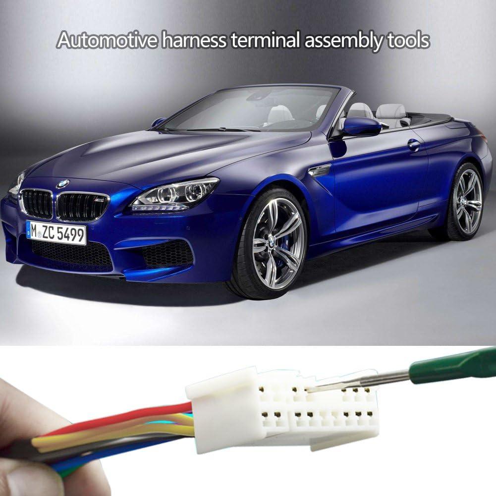 Automotive Wiring Harness Terminal Socket Plug Pin Removal Dismount Tool Kit 1 Set Automotive Wiring Removal Dismount Tool Kit,5pcs