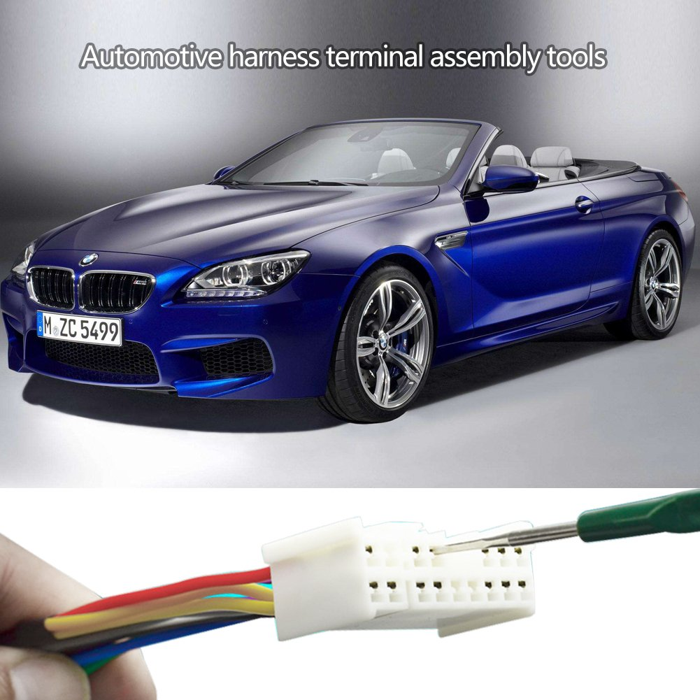 Keenso 5pcs 1 Set Diy Titanium Alloy Automotive Wiring Harness Tools Terminal Socket