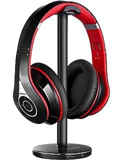 Jelly Comb Auriculares inalámbricos ópticos, Auriculares estéreo Recargables con transmisor para TV/PC/Radio/Teléfono/Tableta, conexión de 3 vías (Óptico, AUX de 3.5 mm, Salida de Audio RCA): Amazon.es: Electrónica