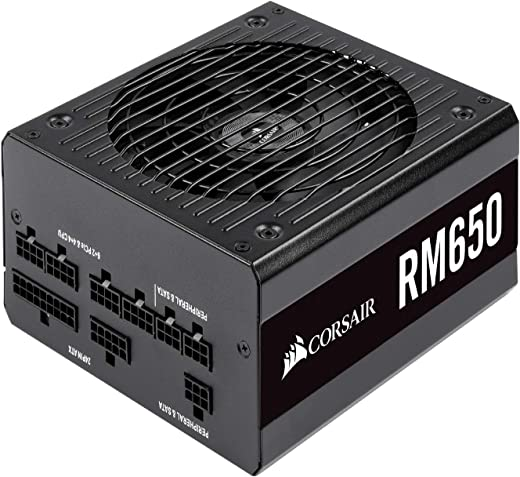 CORSAIR RM Series, RM650, 650 Watt, 80+ Gold Certified, Fully Modular Power Supply, Microsoft Modern Standby