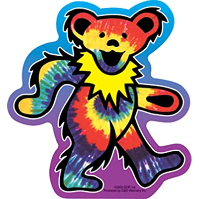 C&D Visionary Licenses Products Grateful Dead Tie Dye Bear Sticker: Toys & Games [5Bkhe0502597]