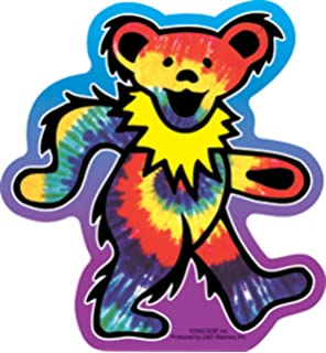 Purple with Green Necklace Decal Dancing Bear Bumper Sticker