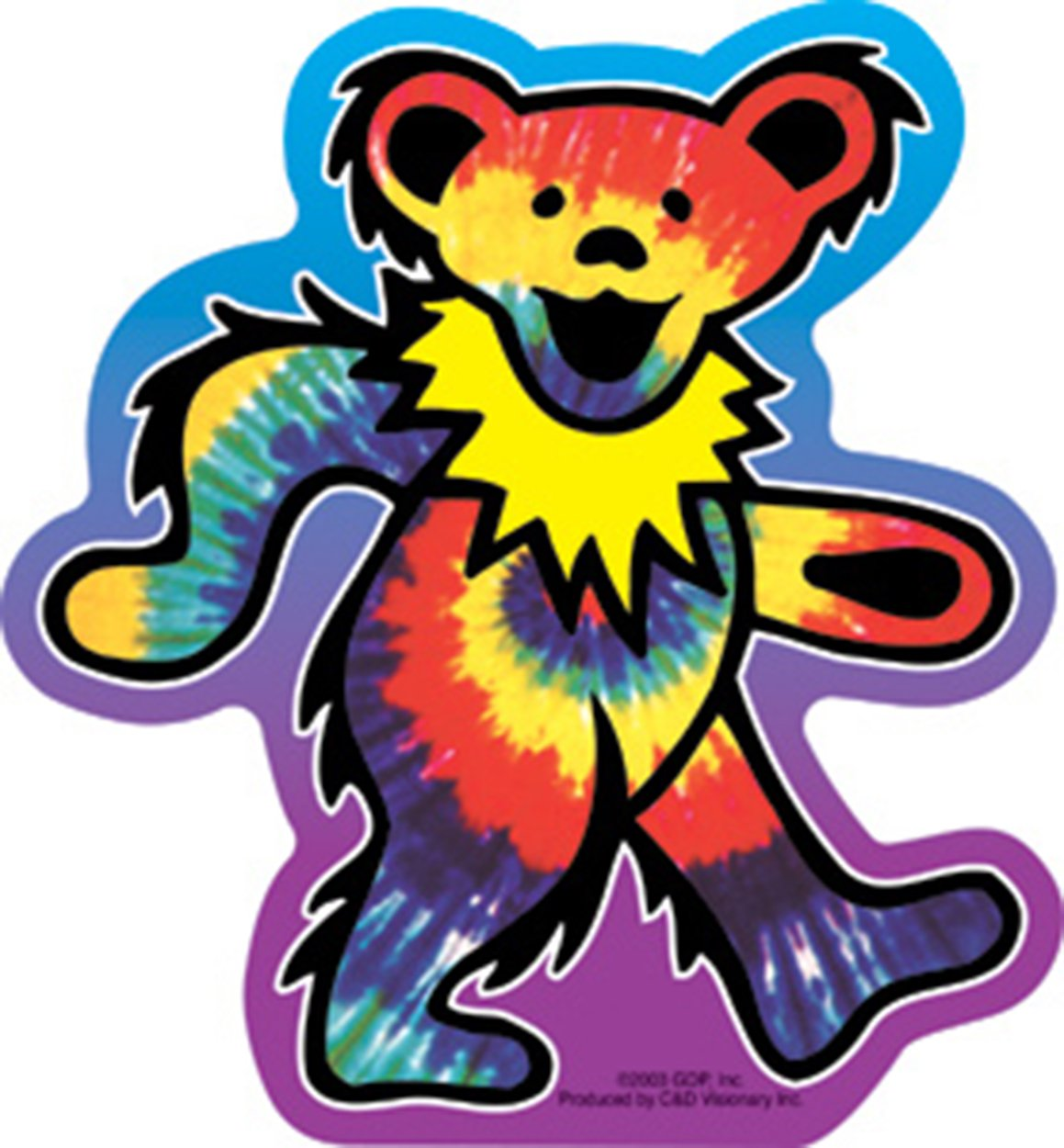 Licenses Products Grateful Dead Tie Dye Bear Sticker C/&D Visionary Inc S-3028