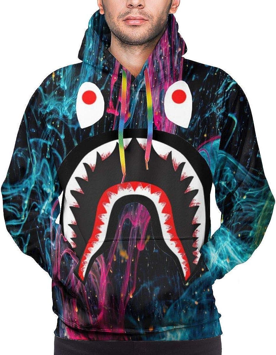 Men's Long Sleeves Hoodies Bape Blood Shark Sweatshirts Slim Tracksuits Pullover Hoodie Hooded Sweatshirt for Mens Boys