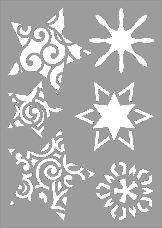 VBS 3 Zeichen-Schablonen Mal-Schablone DIN A6 Weihnachten Stencils ...