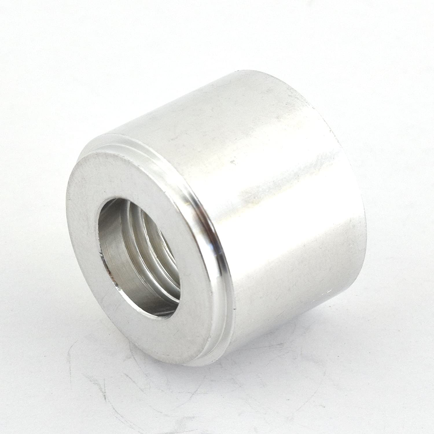 Oil Kraken Automotive Silver 1//4 NPT Straight Aluminum Weld-On Female Bung for Fuel Coolant and Air