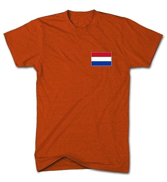 Diseño de bandera de Holanda Nation Holland T-camiseta de manga corta de diseño del mundial de balón de fútbol Euros Commonwealth del T-de manga corta de ...