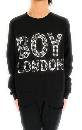 Stock Felpa Boy London Nero Maglia Corta Felpa Cappuccio