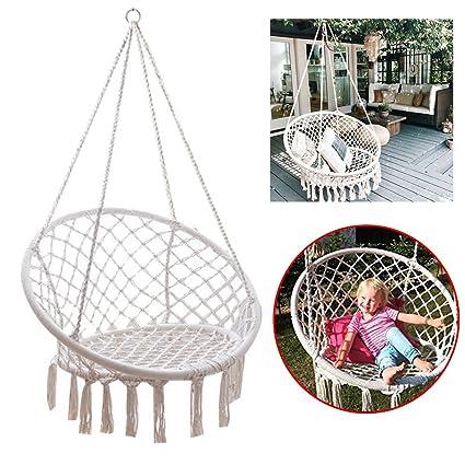 Amazon Com Feiuruhf Macrame Hammock Chair By 260 Pounds Capacity