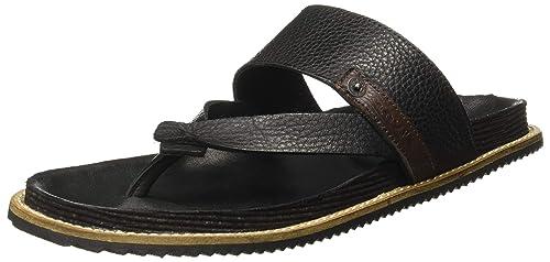 0372a510469 Levi s Men s Dixon Black Leather Flip Flops Thong Sandals-10 UK India (43