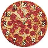 "Rikki Knight Pastrami Pizza Design Round 13"" Art Wall Clock"