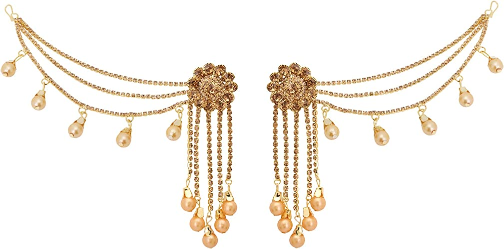 Amazon Com Jwellmart Indian Jewelry Wedding Chain Bollywood