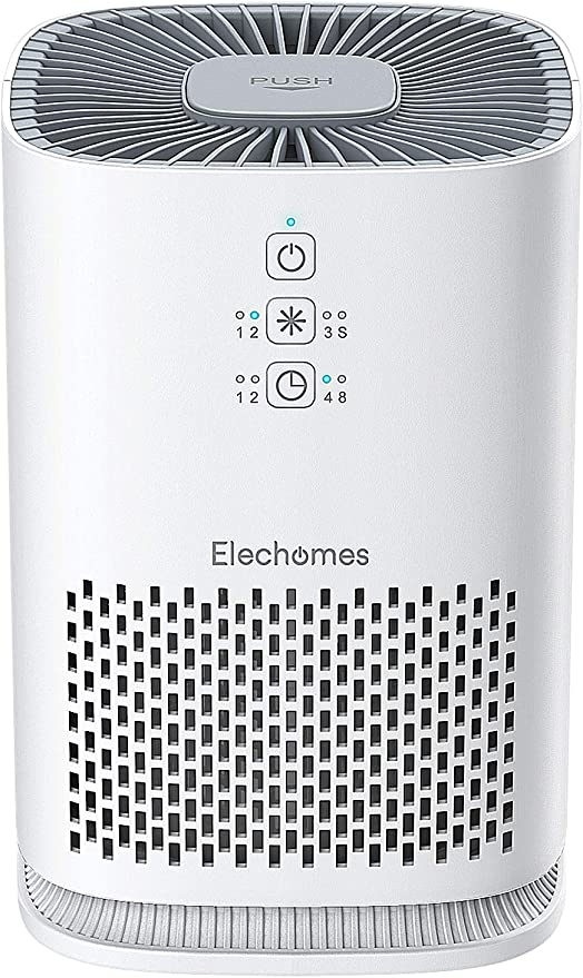 Elechomes EPI081 Air Purifier for Home with True HEPA Filter, Air Cleaner Purifiers for Allergies and Pets Smokers Pollen Dust