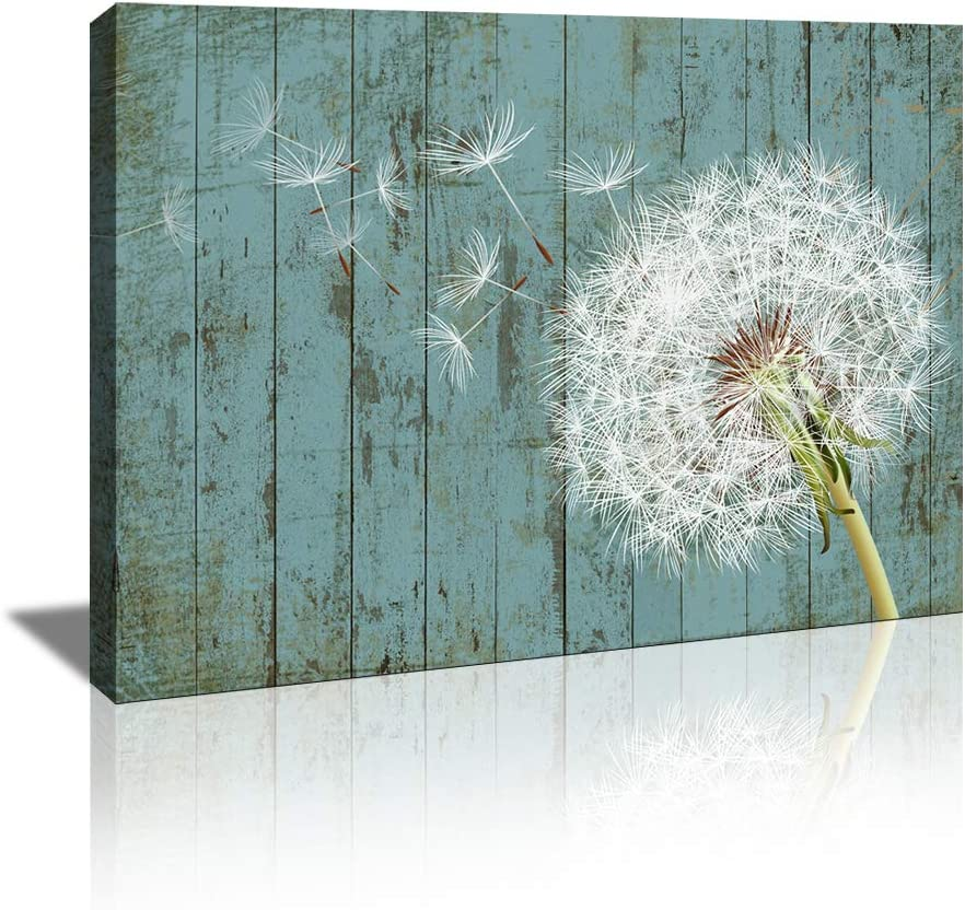 KuyiArt-Home Décor Flower Wall Art Dandelion Picture Canvas Prints for Home Office Bedroom Kitchen Bathroom Wall Decoration Art Ready to Hang (12x16inch)