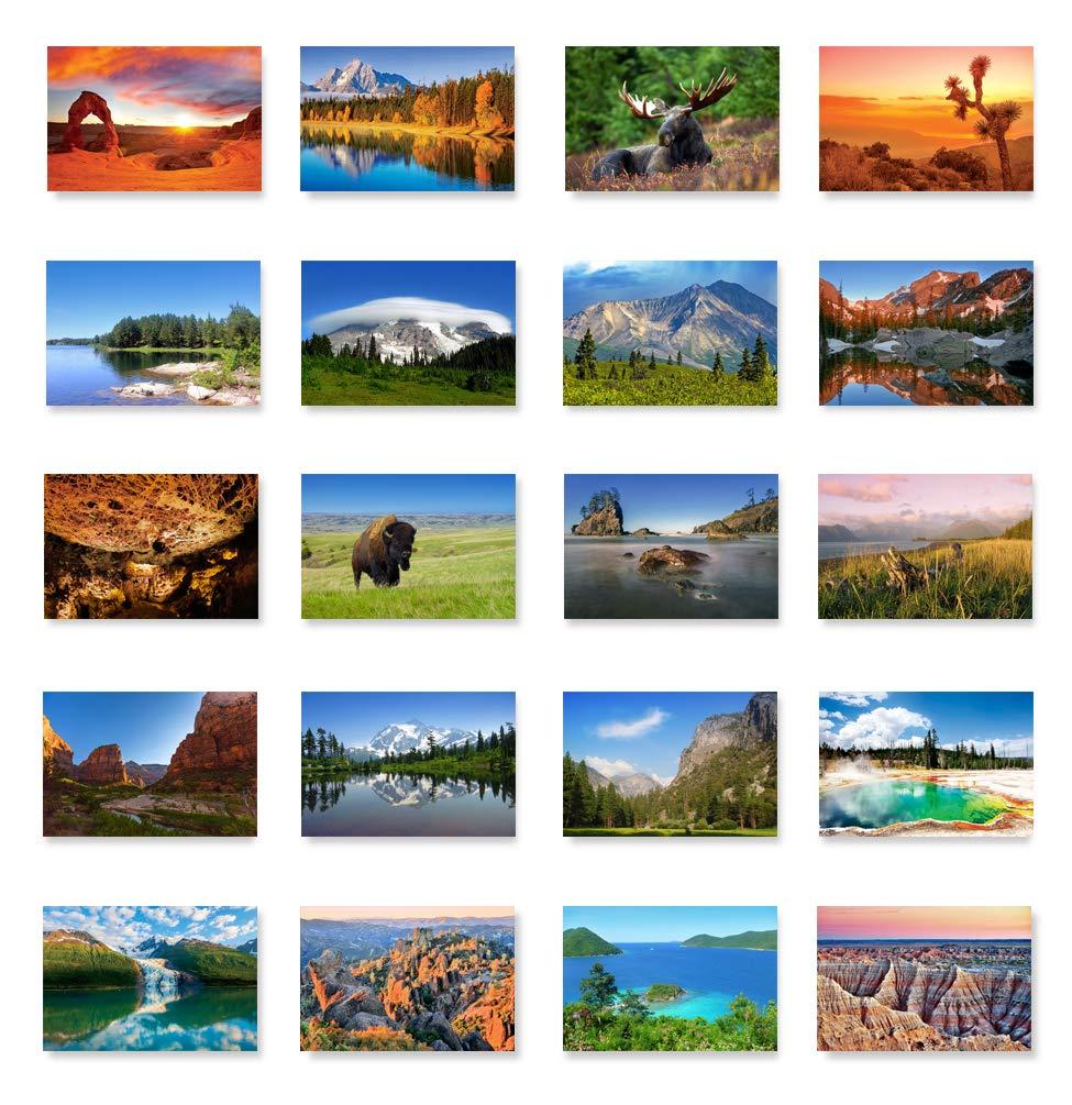 59 US NATIONAL PARKS postcard set of 59 postcards. All 59 United States national parks post card pack. Made in USA.