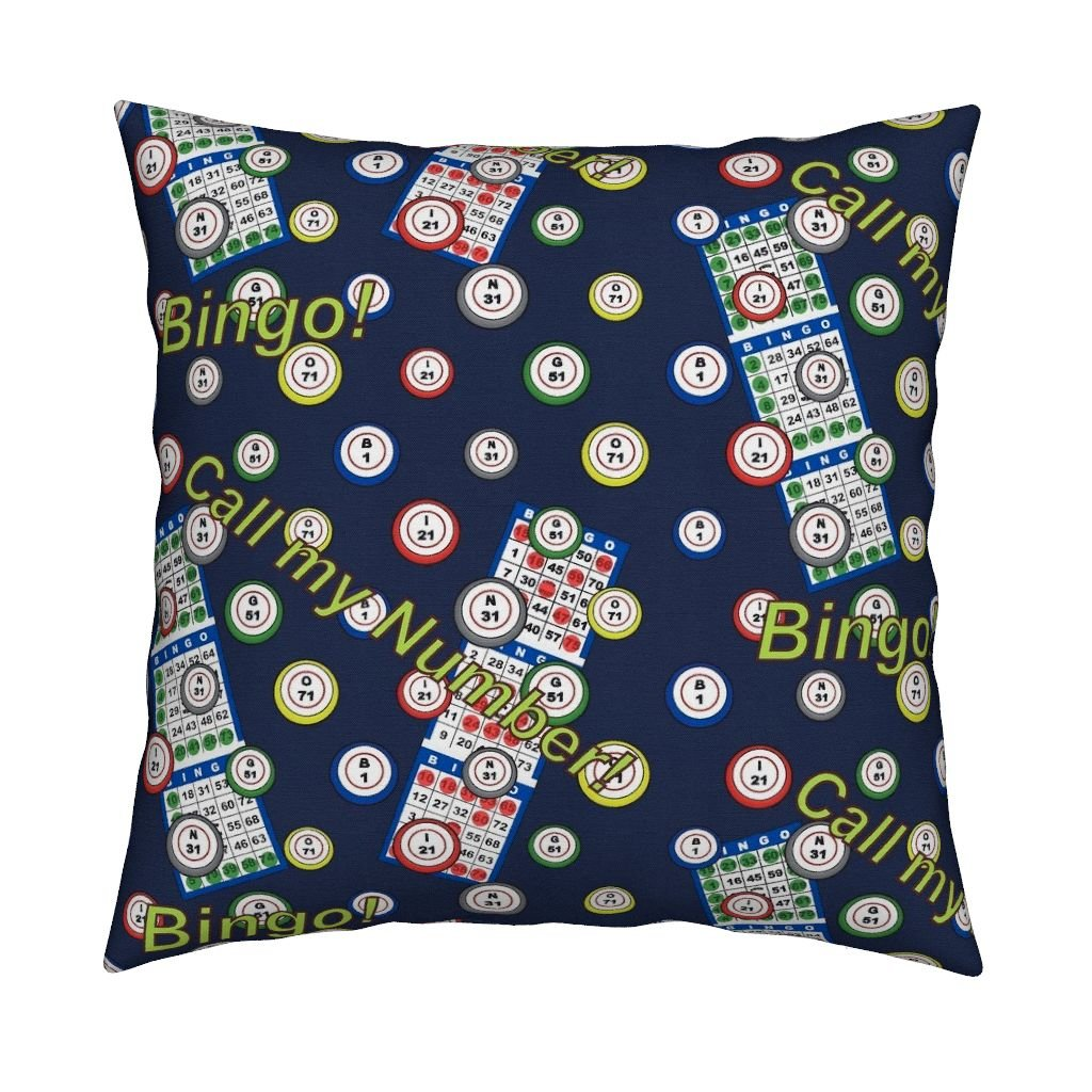 Roostery Bingo Organic Sateen Throw Pillow Cover Call My Number! by Dd BAZ Cover Only
