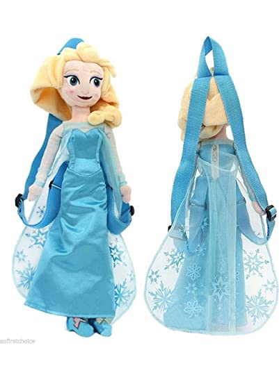 Amazon.com: Disney Frozen Elsa Plush Doll Backpack Snow Queen Anna Sister 18 Inch Costume Bag -Ah: Beauty