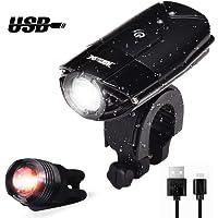 WONTECHMI LED Lumière Lampe Torche du Vélo et Feu Arrière, Phare Lampe Bicyclette Rechargeables USB , 1000 Lumens Light , Antichoc Impermeable IP65 , 356ft distance, 3 Light modes, Facile à Monter