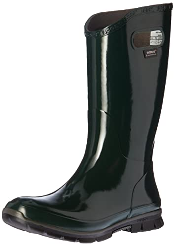 Amazon.com | Bogs Women's Berkley Rain Boot, Dark Green, 11 M US ...