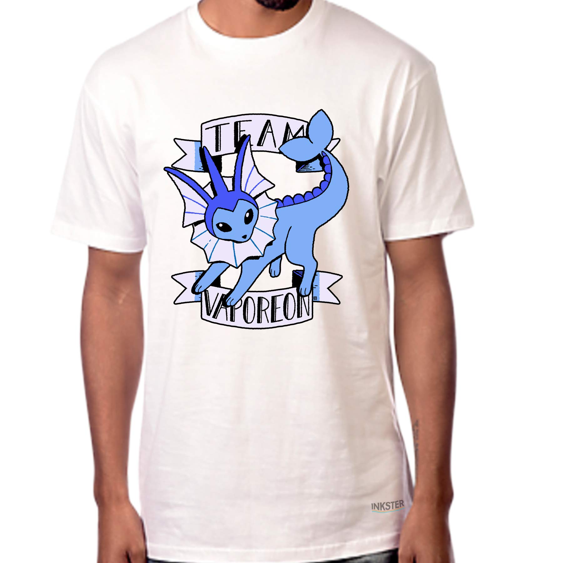 Inksterinc Team Vaporeon Fanart T-Shirt (XX-Large, White)