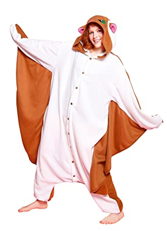 40f2fbf576af Japan Official Sazac Animals Onesie Flying Squirrel Kigurumi Pajamas Flying  Squirrel Costume Cosplay  Amazon.co.uk  Toys   Games