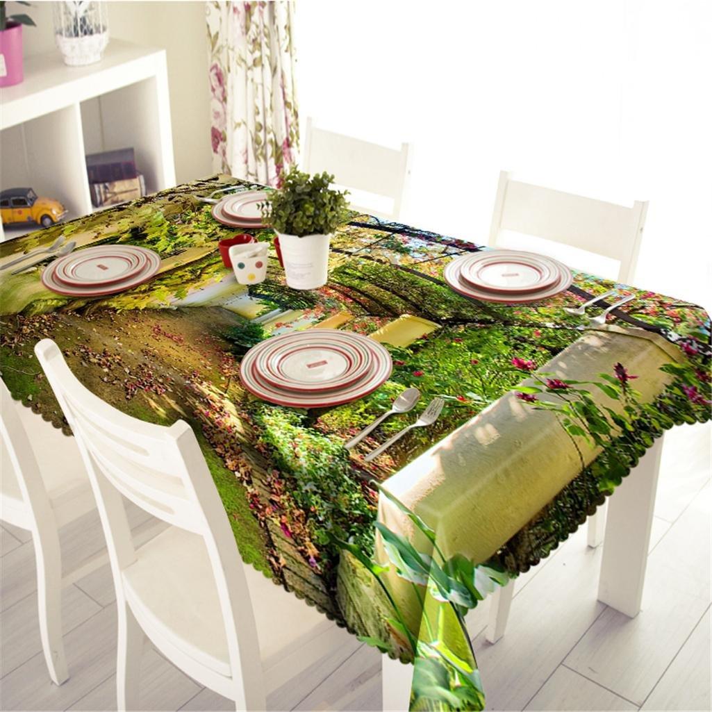I Polyester Nappe de table 3D Scène naturelle de la forêt Impression étanche à la poussière épaissi Cuisine Décoration Couverture de table , 3 , n