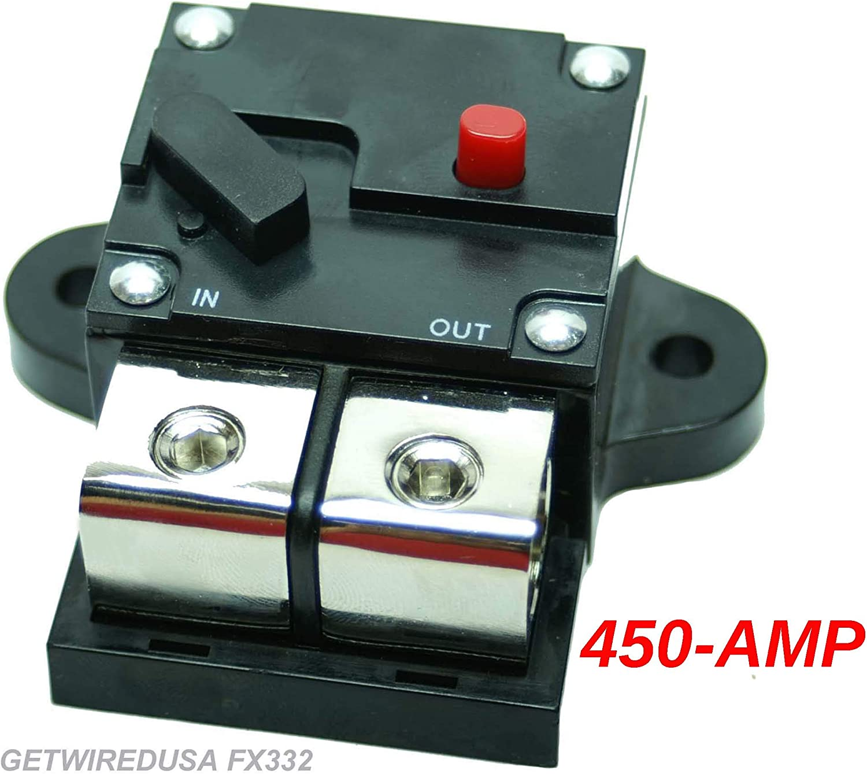 Amazon.com: 0-Gauge 450-Amp Circuit Breaker Heavy Duty Pro Car Audio Marine,  Auto Trip Manual Reset Fuse, Fits 0 AWG Wire 0G Cable. FX332-450A: Car  ElectronicsAmazon.com