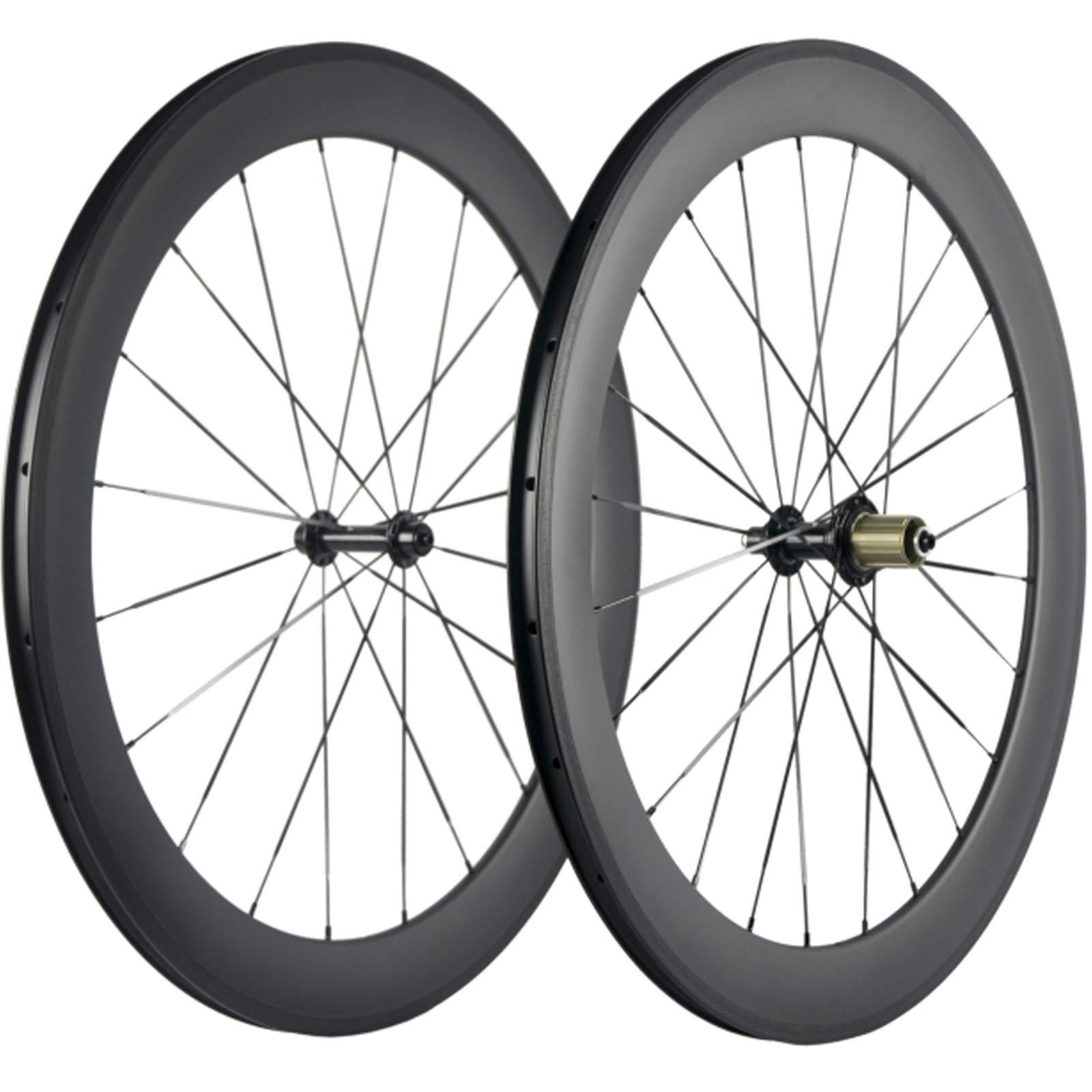 Superteam 38/50/60/88mm Carbon Wheelset 700c Clincher 23mm Wheel UD Matte Finish (60mm/23mm) by Superteam