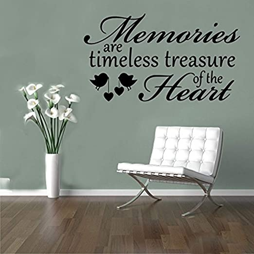 com quoteshome decor memories are timeless treasure heart