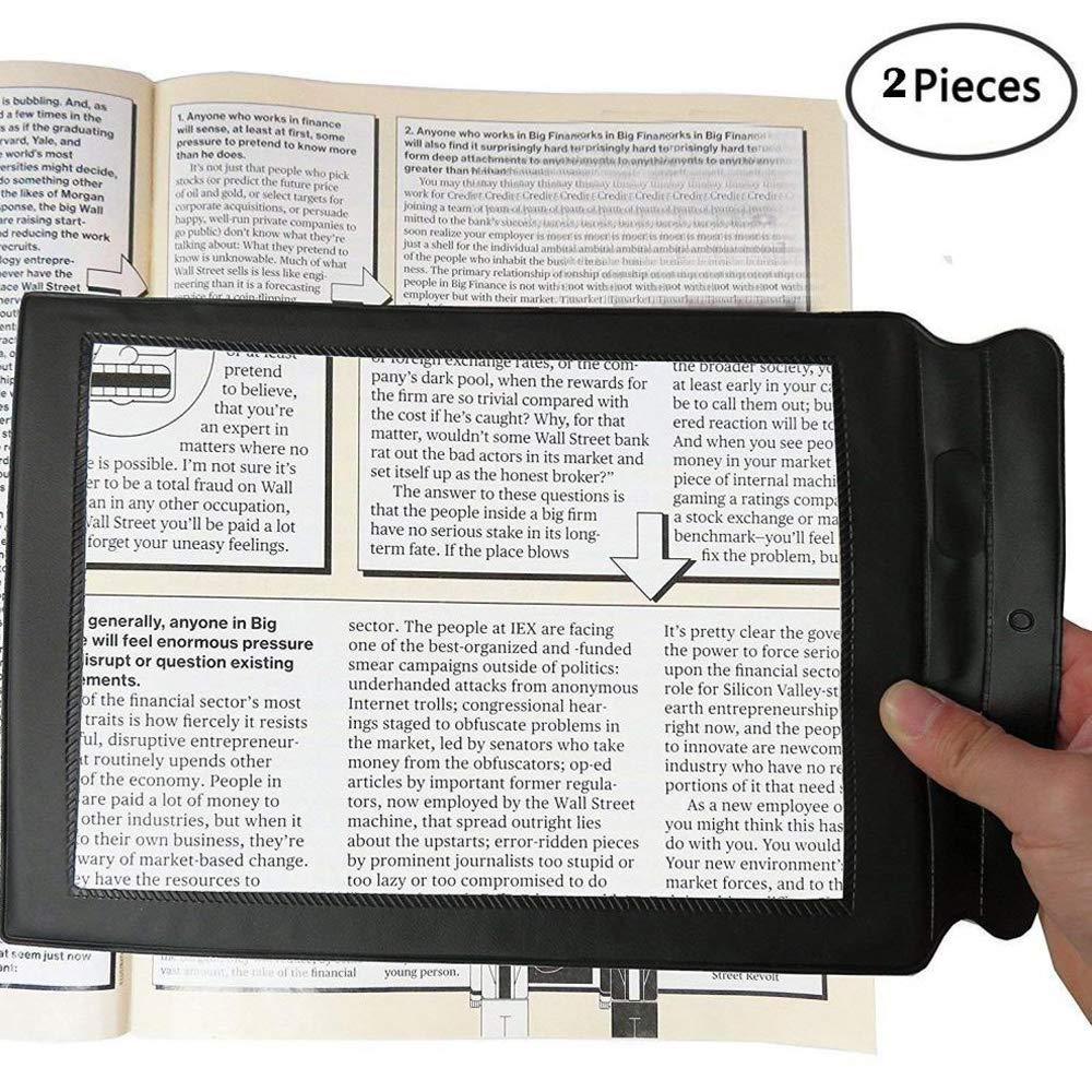 Genmine Full Page Magnifier, 3X A4 Reading Magnifier Large Magnifying Sheet Perfect for Reading Books & Newspapers & Low Vision Aids - Magnifies Entire Page