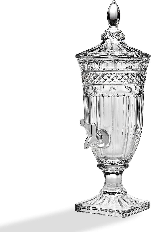 Godinger Glass Beverage Drink Dispenser Brandon - 60oz