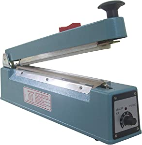 INAVIS 8 inch (200mm) Impulse Bag Sealer Poly Bag Sealing Machine Heat Seal with Cutter