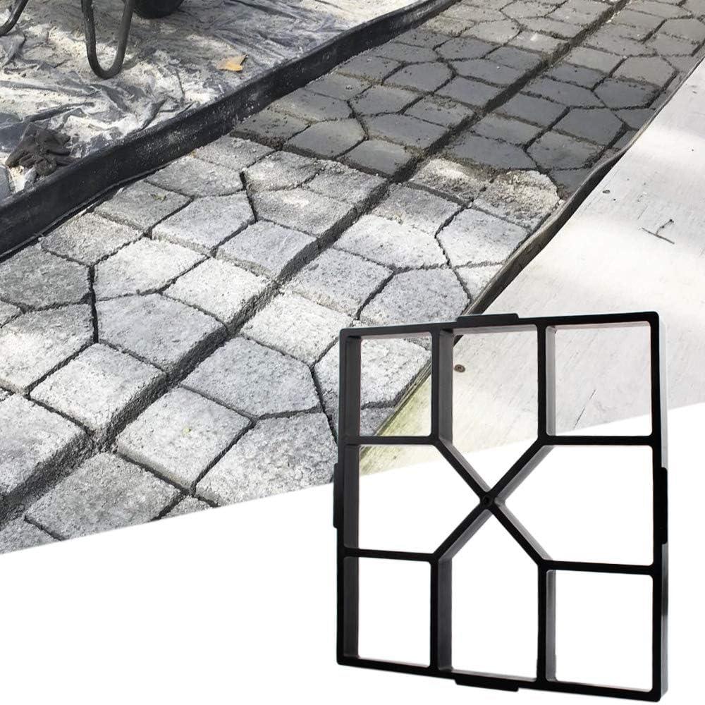 "15.7""x15.7""x1.57"" Walk Maker Reusable Concrete Path Maker Molds Stepping Stone Paver Lawn Patio Yard Garden DIY Walkway Pavement Paving Moulds (Square)"