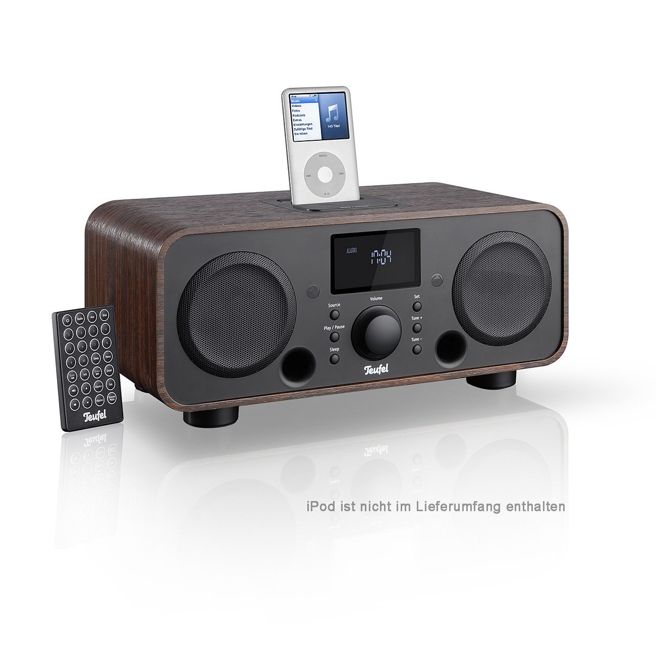 ITeufel Radio v2 Nogal Mesa Radio con subwoofer Integrado y Dock ...