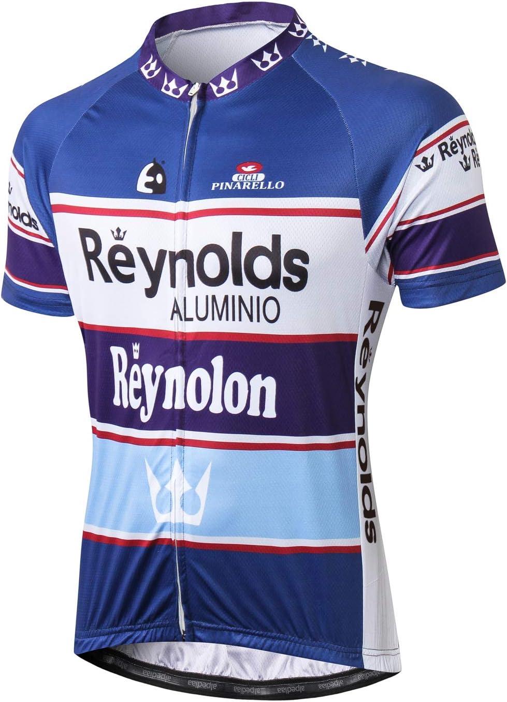 Alpediaa Maillot Ciclismo Hombres,Reynolds Maillots de Bicicleta ...
