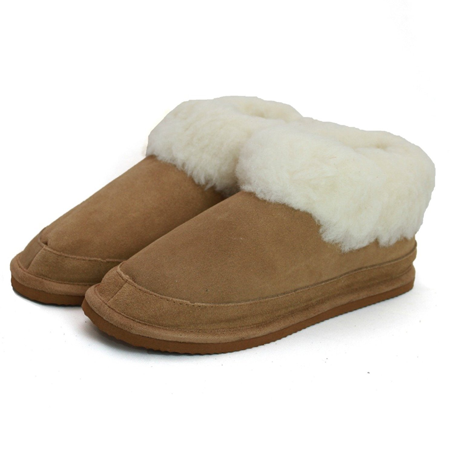 0189a1cbed64d Papucs Sheepskin Suede Slipper Boots with Wool Mix Lining and Sturdy Non  Slip Grip Sole: Amazon.co.uk: Shoes & Bags