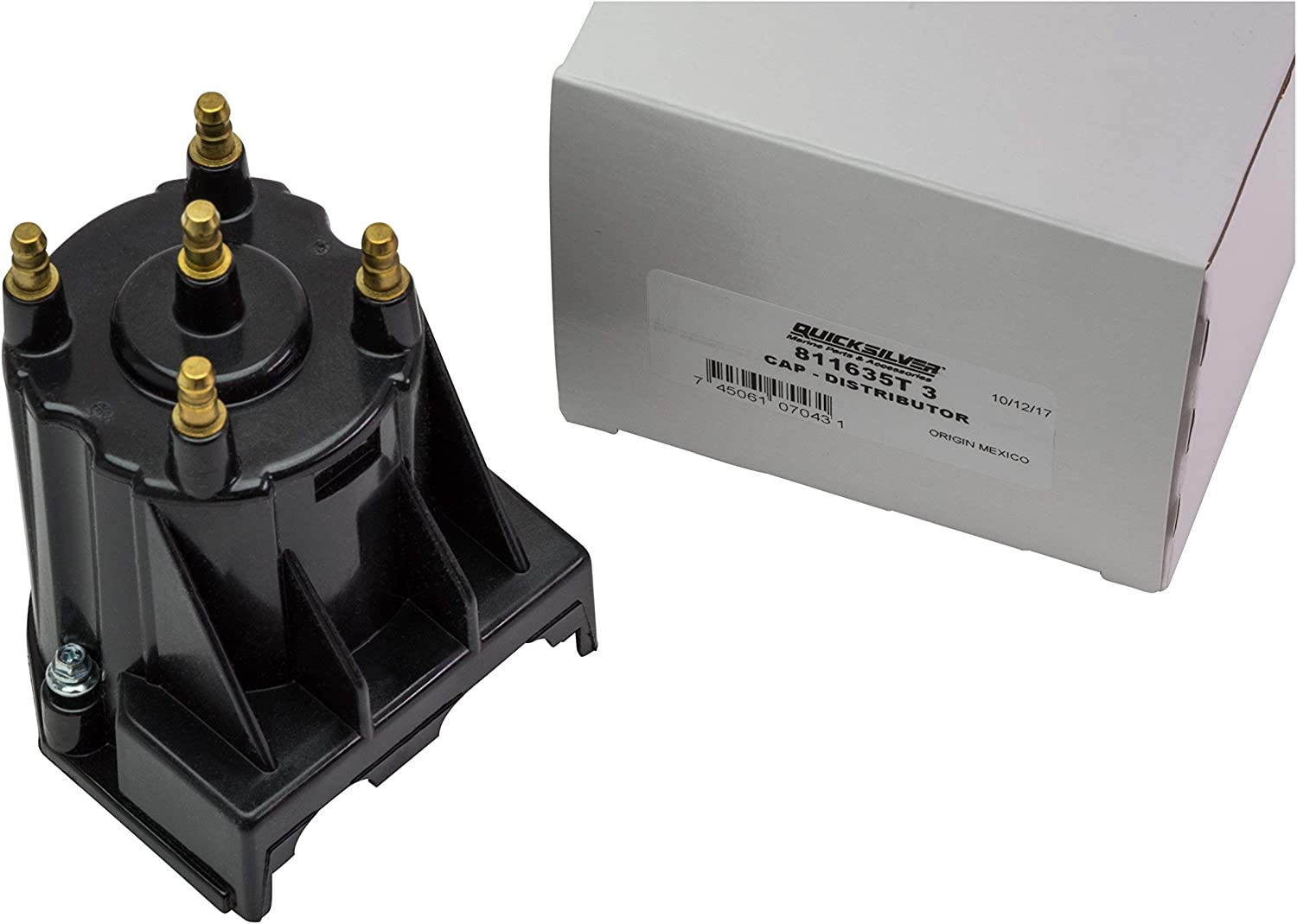 Quicksilver 811635T3 Distributor Cap Marinized 4-Cylinder Engines by General Motors with Delco EST Ignition Systems Renewed