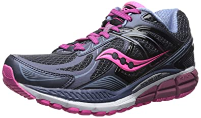 Saucony Women's Echelon 5 Running Shoe, Grey/Pink, 5 W US