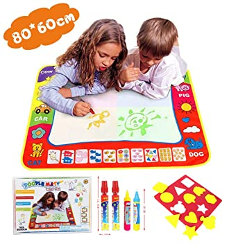 Amazon Com Water Doodle Magic Mats For Kids 31 5x23 6inch Tqp Ck Water Drawing Mat 4 Colours Child Painting Play Learning Magic Water Doodle Painting Pen With 4 Doodle Painting Pens Baby