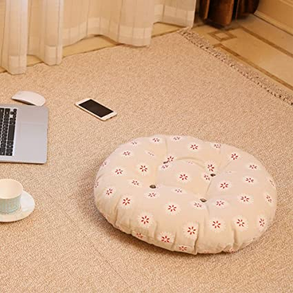 Amazoncom Jiaqi Thicken Round Chair Cushionsolid Color Seat