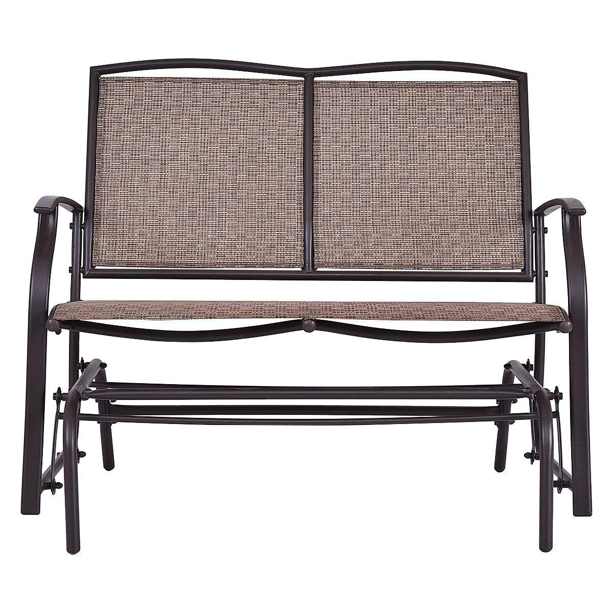 LordBee Indoor Comfortable Patio Glider Cozy Rocking Settle Relaxing 2 Person Outdoor Patio Garden Yard Pool Bench Chair