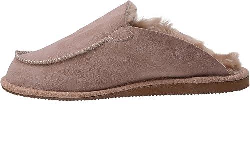 Hausschuhe Damen Lammfell Leder Braun Pantoffeln Pantoletten Schlappen Puschen