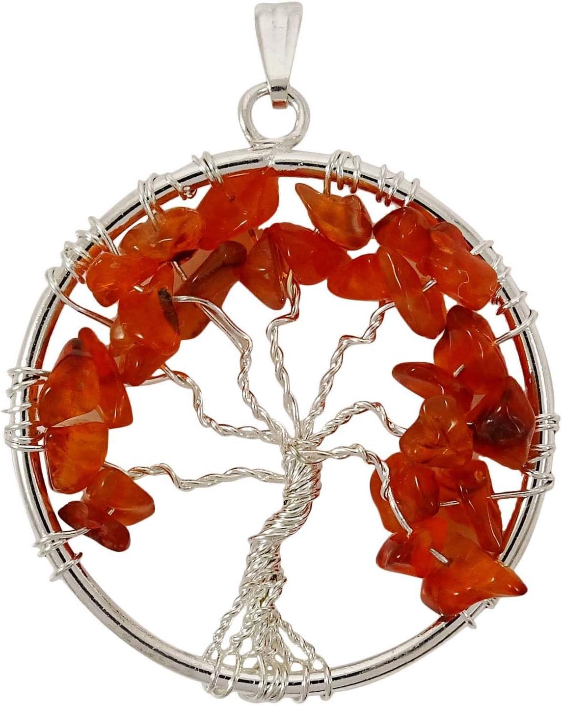 Harmonize Árbol cornalina de la Cura de Cristal Colgante Vida Chakra Chips Reiki Piedras Preciosas Don Espiritual